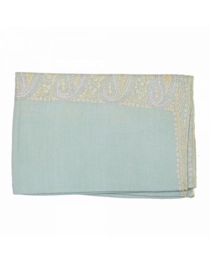 Angela Jey Embroidered Pashmina - Baby Green