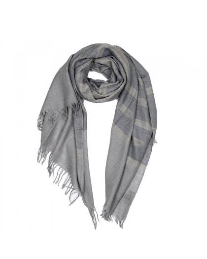 Angela Jey Ikat Pashmina Scarf - Light Blue